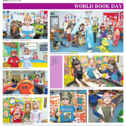 A series of images with children dressed up as characters for world book day from Coleridge School. Photographs by Siorna Ashby